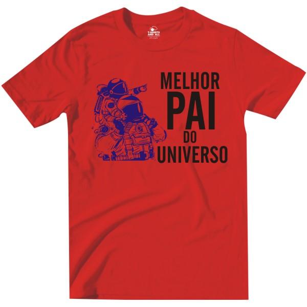 melhor pai do universo red tshirt
