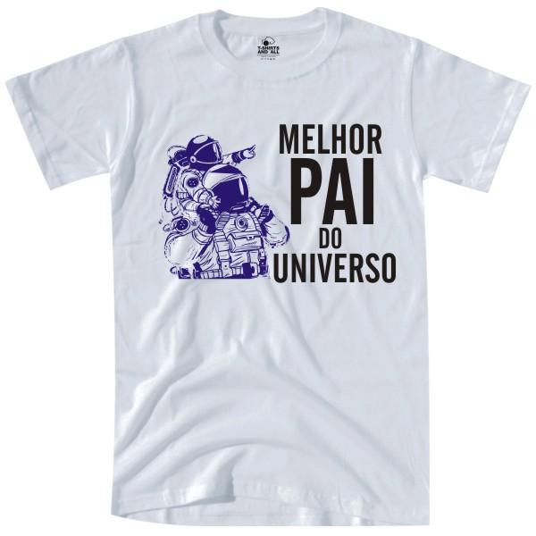 melhor pai do universo white tshirt