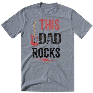 this dad rocks grey tshirt