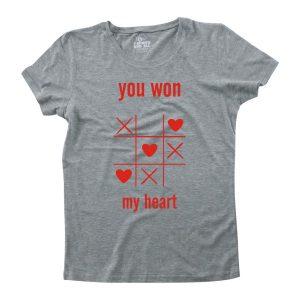 youwonmyheart grey woman tshirt