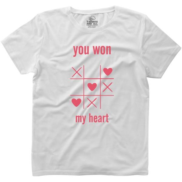 youwonmyheart white woman tshirt